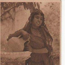 Postales: POSTAL DE 1921. DE RÍO MARTÍN. MUJER ÁRABE EN LA FUENTE. ESCRITA CON DESTINO A MADRID.. Lote 31896000