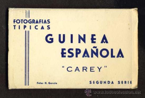 CARNET DESPLEGABLE CON 12 POSTALES DE GUINEA ESPAÑOLA. SERIE 2 (HELIOTIP. ARTIST.) (VER FOTOS ADIC.) (Postales - Postales Temáticas - Ex Colonias y Protectorado Español)
