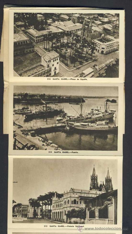 Postales: Carnet desplegable con 12 postales de GUINEA ESPAÑOLA. Serie 2 (Heliotip. Artist.) (ver fotos adic.) - Foto 2 - 32793558