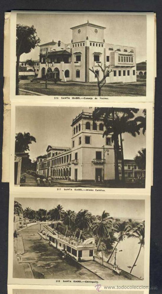 Postales: Carnet desplegable con 12 postales de GUINEA ESPAÑOLA. Serie 2 (Heliotip. Artist.) (ver fotos adic.) - Foto 3 - 32793558