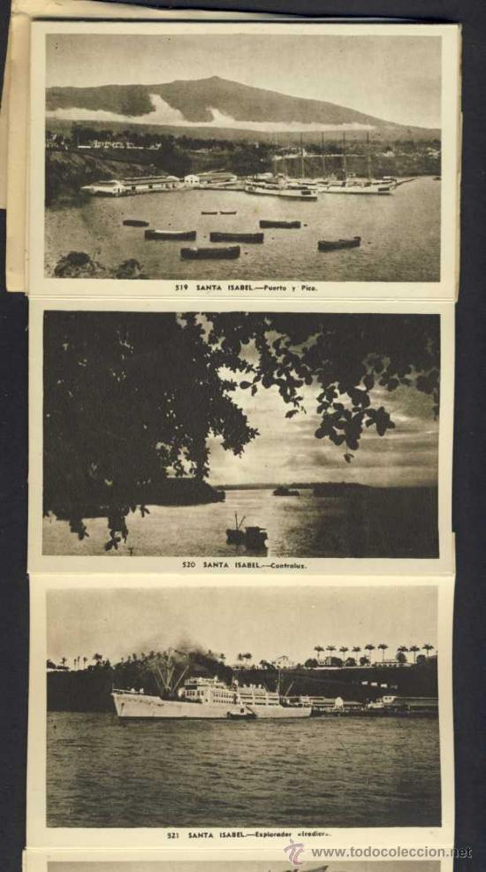 Postales: Carnet desplegable con 12 postales de GUINEA ESPAÑOLA. Serie 2 (Heliotip. Artist.) (ver fotos adic.) - Foto 4 - 32793558
