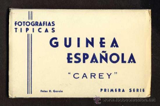 CARNET DESPLEGABLE CON 12 POSTALES DE GUINEA ESPAÑOLA. SERIE 1 (HELIOTIP. ARTIST.) (VER FOTOS ADIC.) (Postales - Postales Temáticas - Ex Colonias y Protectorado Español)