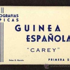 Postales: CARNET DESPLEGABLE CON 12 POSTALES DE GUINEA ESPAÑOLA. SERIE 1 (HELIOTIP. ARTIST.) (VER FOTOS ADIC.). Lote 32793612