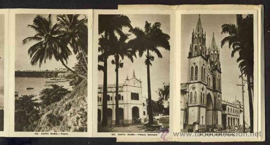 Postales: Carnet desplegable con 12 postales de GUINEA ESPAÑOLA. Serie 1 (Heliotip. Artist.) (ver fotos adic.) - Foto 2 - 32793612