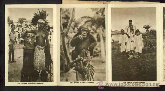 Postales: Carnet desplegable con 12 postales de GUINEA ESPAÑOLA. Serie 1 (Heliotip. Artist.) (ver fotos adic.) - Foto 5 - 32793612