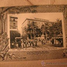 Postales: TARJETA POSTAL ORIGINAL P.P.S.XX COLECCION ARABE, ALGER ALGERIE, HOTEL,EDITON PHOTO I.V.S., CA. 1915. Lote 33751106