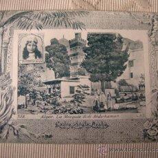 Postales: TARJETA POSTAL ORIGINAL P.P.S.XX COLECCION ARABE, ALGER ALGERIE, EDITON PHOTO I.V.S., CA. 1915. Lote 33751185