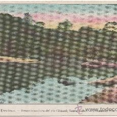 Postales: GUINEA ESPAÑOLA.- SANTA ISABEL DE FERNANDO PÓO.- DESEMBOCADURA DEL RÍO CÓNSUL.- ED. ELZEVIRIANA, F-6. Lote 34866162