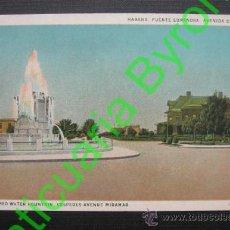 Postales: HABANA. CUBA. FUENTE LUMINOSA. AVENIDA CÉSPEDES. Lote 35860831