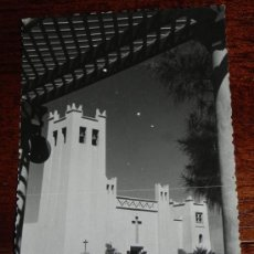 Postales: ANTIGUA FOTO POSTAL DE SIDI IFNI, SAHARA ESPAÑOL, IGLESIA CATOLICA DE SIDI IFNI, NO CIRCULADA, ESCR. Lote 37178498