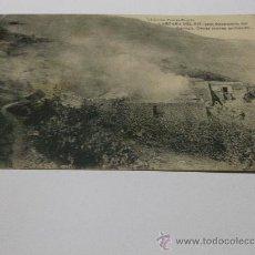 Postales: CAMPAÑA DEL RIF.-1921 OCUPACION DEL GURUGU. CASAS MORAS ARDIENDO. EDI.POSTAL EXPRES. LIGERAS MANCHAS. Lote 37311218