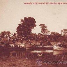 Postales: GUINEA CONTINENTAL. MUELLE Y FLOTA DE LA SOCOGUI.. Lote 38752780