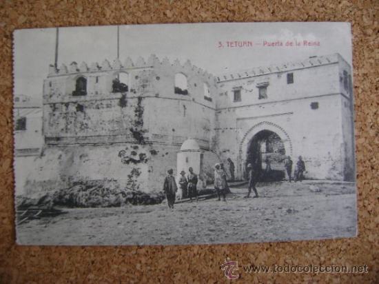POSTAL CIRCULADA TETUÁN, ARRIBAS Nº 3, PUERTA DE LA REINA. 1914 (Postales - Postales Temáticas - Ex Colonias y Protectorado Español)