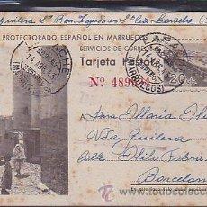 Postales: POSTAL DEL PROTECTORADO ESPAÑOL EN MARRUECOS . Lote 39523464