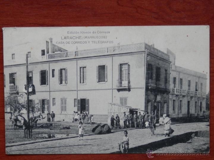 LARACHE MARRUECOS CASA DE CORREOS POSTAL ANTIGUA (Postales - Postales Temáticas - Ex Colonias y Protectorado Español)