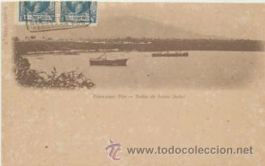 FERNANDO PÓO.- BAHÍA DE SANTA ISABEL. FRANQUEADO Y FECHADO EN 1905 CON DOBLE E- (Postales - Postales Temáticas - Ex Colonias y Protectorado Español)