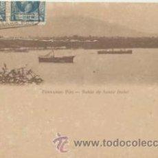 Postales: FERNANDO PÓO.- BAHÍA DE SANTA ISABEL. FRANQUEADO Y FECHADO EN 1905 CON DOBLE E-. Lote 41260749