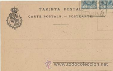 Postales: Fernando Póo.- Compañía de Infantería de Marina (Santa Isabel) Franqueado y fecha - Foto 2 - 41260898
