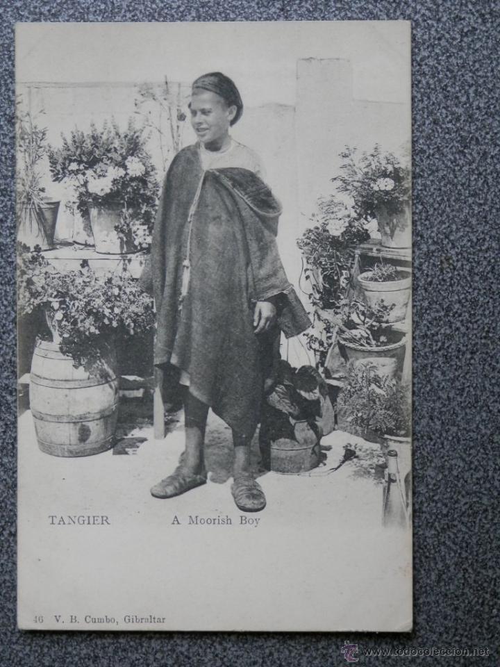 TANGER A MORISH BOY POSTAL ANTIGUA (Postales - Postales Temáticas - Ex Colonias y Protectorado Español)