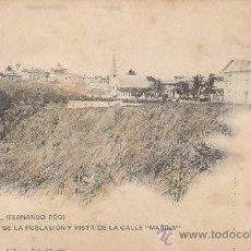 Postales: SANTA ISABEL DE FERNANDO POO, POBLACIO Y CALLE MARINA, EDITOR HAUSER Y MENET COLECCION VICTORIA Nº 2. Lote 41786546