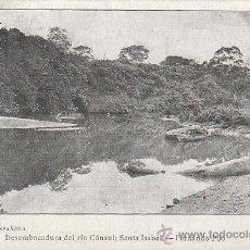 Postales: GUINEA ESPAÑOLA, SANTA ISABEL, DESEMBOCADURA DEL RIO CONSUL, SERIE B Nº 6, DE RAYADO CONTINUJO. Lote 41809738