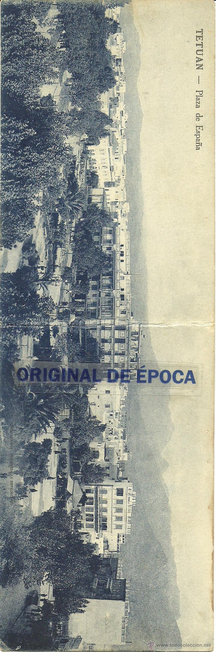 (PS-39932)POSTAL DOBLE DE TETUAN-PLAZA ESPAÑA (Postales - Postales Temáticas - Ex Colonias y Protectorado Español)