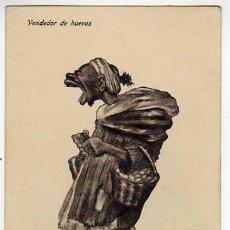 Postales: MELILLA. CARICATURA DE UN VENDEDOR DE HUEVOS. POSTAL CIRCULADA. AÑOS 1910S. Lote 45077725