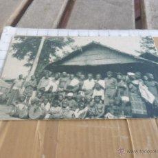 Postales: FOTO TARJETA POSTAL PRINCIPIOS SIGLO XX GUINEA UN POBLADO PABELLON COLONIAL IBERO AMERICANA SEVILLA. Lote 47934064