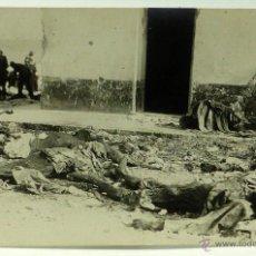 Postales: FOTO POSTAL MONTE ARRUIT CAMPAÑA DEL RIF 1921 GUERRA MARRUECOS CADÁVERES ENCONTRADOS POSICIÓN. Lote 49635515