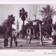 Postales: TETUÁN (PROTECTORADO ESPAÑOL EN MARRUECOS): PLAZA DE ESPAÑA. FOTO CALATAYUD. NO CIRCULADA (AÑOS 50). Lote 50176676