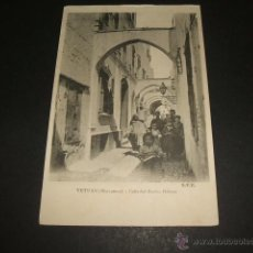 Postales: TETUAN MARRUECOS CALLE DEL BARRIO HEBREO. Lote 50997229