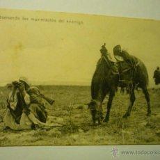 Postales: POSTAL ESCRITA 1927 CEUTA - OBSERVANDO LOS MOVIMIENTOS DEL ENEMIGO --BB. Lote 52623337