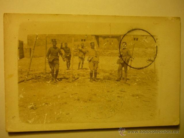 POSTAL MILITAR .-ESCRITA-1915-LLEVA SELLO TAMPON BATALLON DE CAZADORES......BB (Postales - Postales Temáticas - Ex Colonias y Protectorado Español)