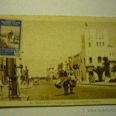 Postales: POSTAL LARACHE -AV.GENERALISIMO FRANCO.-ESCRITA- BB. Lote 52954991