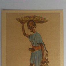 Postales: ANTIGUA POSTAL CARICATURAS MORAS COLOREADAS, VENDEDOR DE DATILES - Nº 4, DIBUJO MULLOR - MELILLA. Lote 53721380