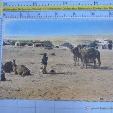 Postales: POSTAL DEL PROTECTORADO AÑOS 50. SAHARA ESPAÑOL. AAIUN VISTA DEL POBLADO NÓMADA. 40 PORRAS. 308. Lote 54019073