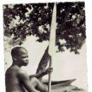Postales: PS5970 FERNANDO POO 'PESCADOR'. H.GARCÍA. CIRCULADA. 1955. Lote 51645852