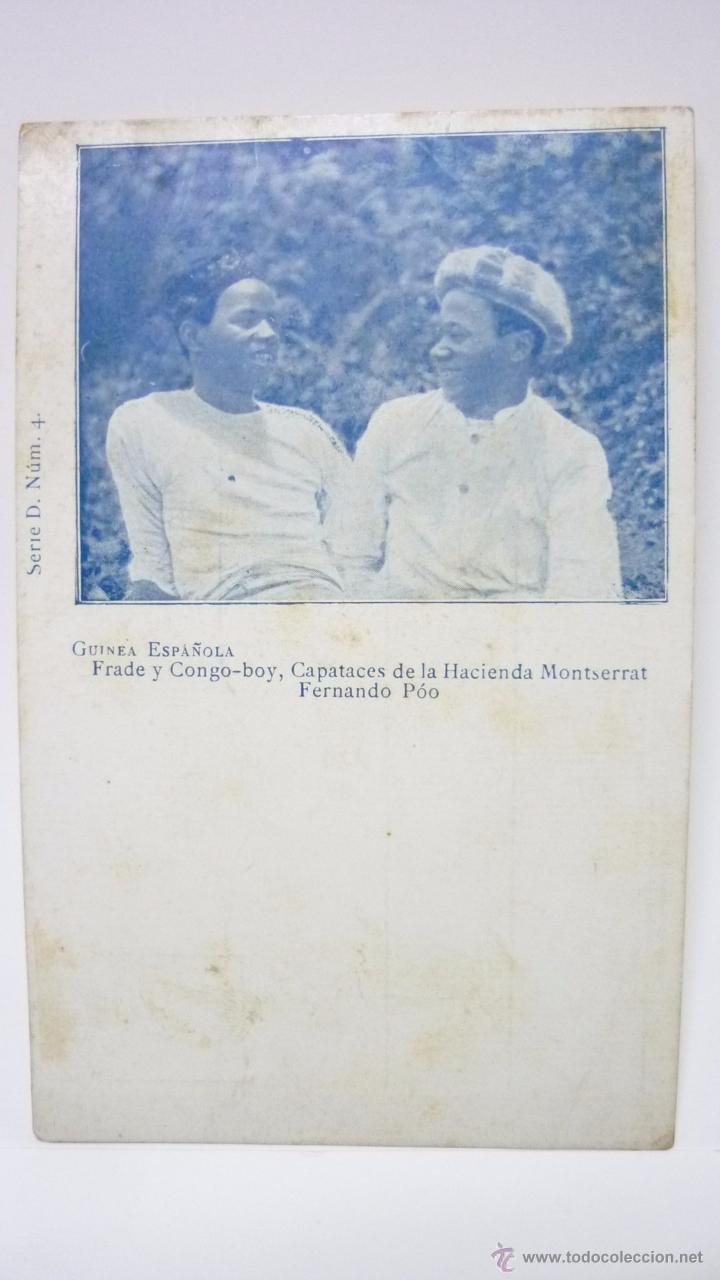 GUINEA ESPAÑOLA. CAPATACES DE LA HACIENDA MONTSERRAT. FERNANDO POO (Postales - Postales Temáticas - Ex Colonias y Protectorado Español)