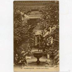 Postales: POSTAL DE MARRAKECH JARDÍN DE LA BAYA 1924 CIRCULADA CON SELLO. Lote 55158802