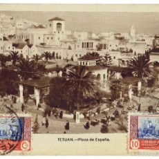 Postales: PS6644 TETUÁN 'PLAZA DE ESPAÑA'. M. ARRIBAS. CIRCULADA. 1947. Lote 56035399
