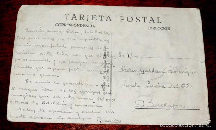 Postales: POSTAL CARICATURA PROTECTORADO ESPAÑOL EN MARRUECOS, 1925, FUTBOL, ILUSTRADOR GAMONEDA, FERNANDEZ ES - Foto 2 - 56733229