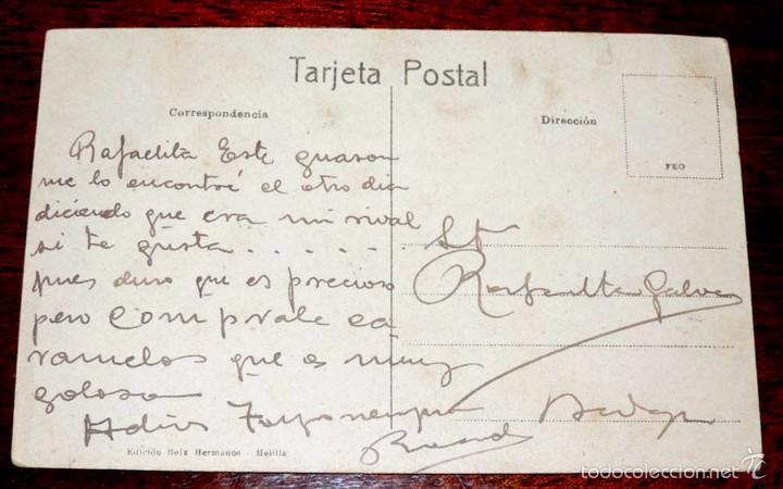 Postales: POSTAL CARICATURA PROTECTORADO ESPAÑOL EN MARRUECOS, 1925, EDIC. BOIX HERMANOS, ESCRITA - Foto 2 - 56733262