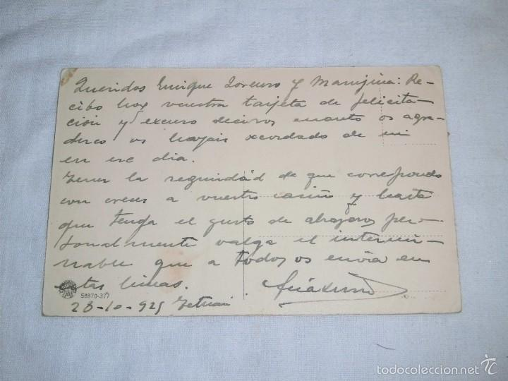 Postales: ANTIGUA POSTAL TETUAN.-S.A.I.EL JALIFA.-ESCRITA Y FECHADA 28-10-1925 - Foto 2 - 56940146