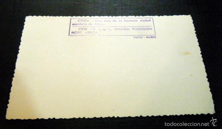 Postales: Postal ceuta Una vista de Ceuta Foto Rubio - Foto 2 - 57859738