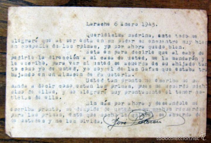 Postales: ENTERO TARJETA POSTAL CORREOS PROTECTORADO ESPAÑOL MARRUECOS - 1943 - LARACHE, RGTO MIXTO CABALLERIA - Foto 2 - 57932071