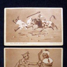 Postales: LOTE DE 2 TARJETAS POSTALES HUMORÍSTICAS DE MELILLA. D. MULLOR 1921. HUMOR. Lote 58020526