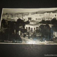 Postales: TETUAN PLAZA DE ESPAÑA POSTAL FOTOGRAFICA FOTO CUADRADO AÑOS 30. Lote 59972099