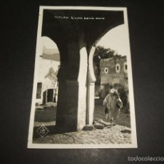 Postales: TETUAN RINCON DEL BARRIO MORO POSTAL FOTOGRAFICA AÑOS 30. Lote 59972179