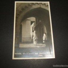 Postales: TETUAN UN RINCÓN DEL BARRIO MORO POSTAL FOTOGRAFICA FOTO GALVEZ AÑOS 30. Lote 59999255