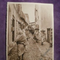 Postales: POSTAL - EXCOLONIAS - TETUAN - CALLE DEL BARRIO MORO - EDITOR M. ARRIBAS - 1904. Lote 61260751